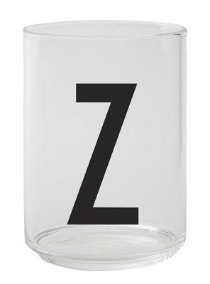 Verre Arne Jacobsen / Verre borosilicaté - Lettre Z - Design Letters transparent en verre