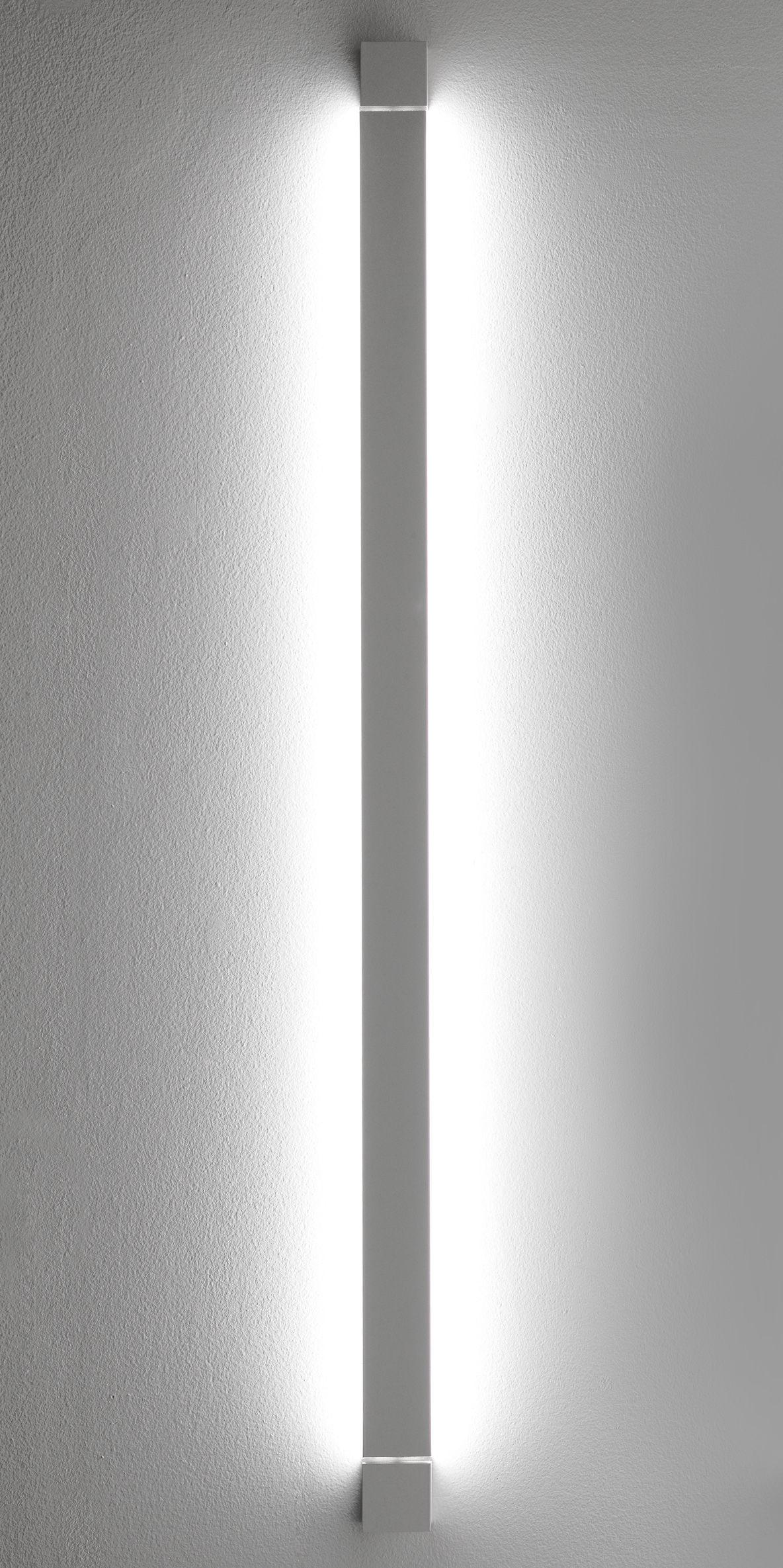 Lighting - Wall Lights - Pivot LED Wall light - L 112 cm by Fabbian - White - Painted aluminium