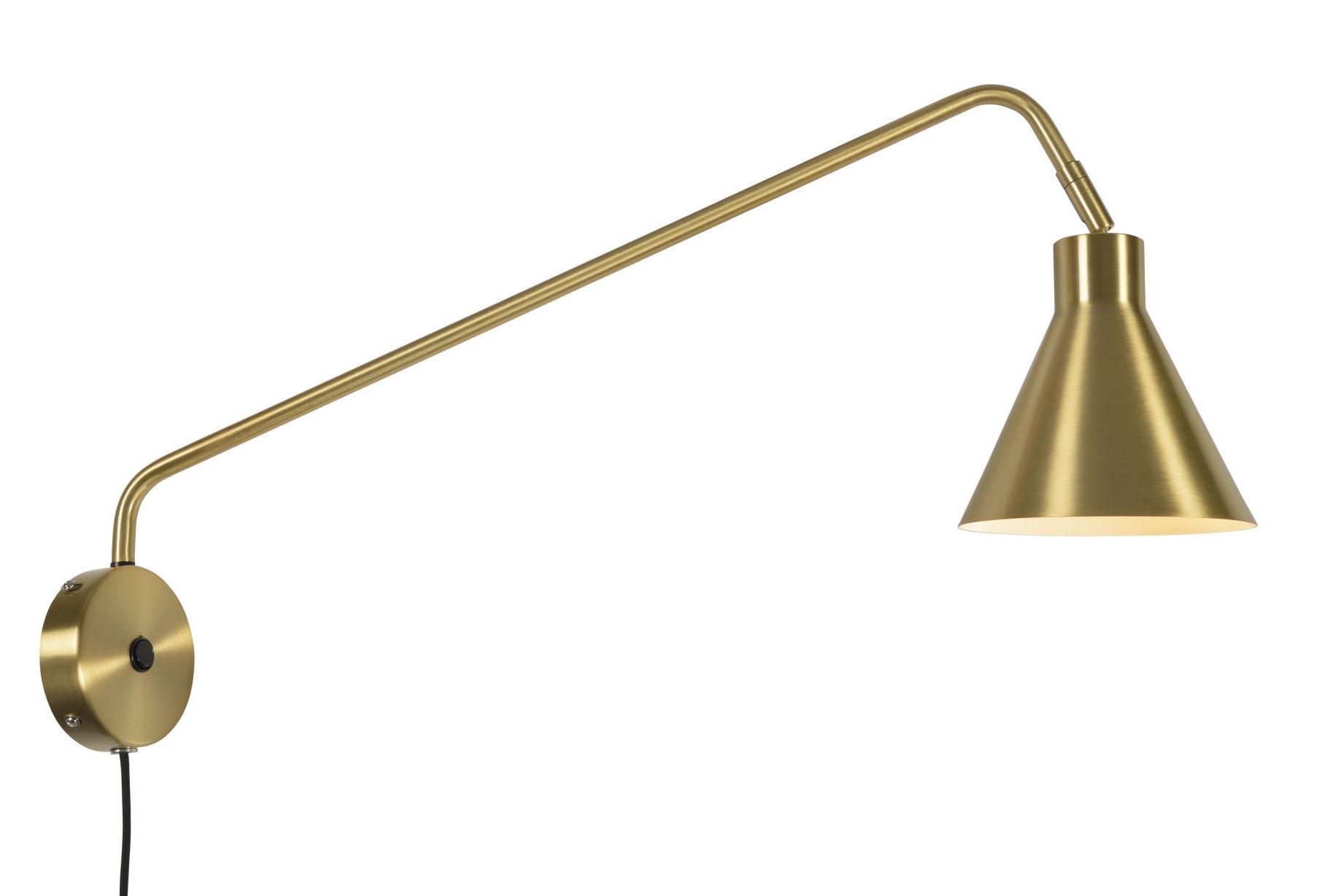 Leuchten - Wandleuchten - Lyon Wandleuchte mit Stromkabel / dreh- & schwenkbar - L 70 cm - It's about Romi - Goldfarben - Eisen