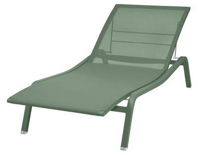 Bain de soleil Alizé / larg. 80 cm - 5 positions - Fermob vert en métal/tissu