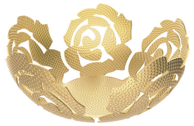 Tableware - Fruit Bowls & Centrepieces - La Rosa Basket - / Brass - Ø 21 cm by Alessi - Brass - Brass