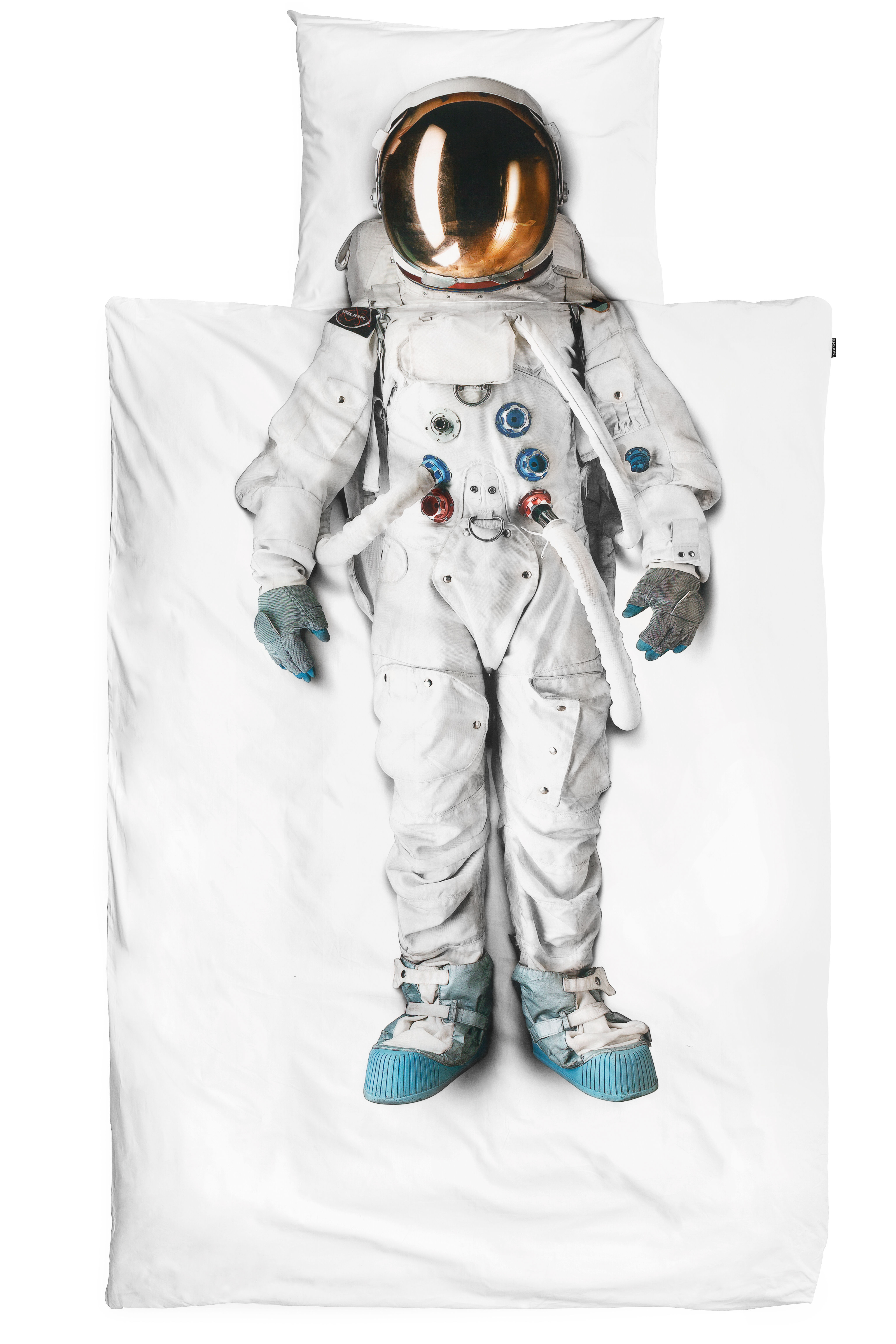 Decoration - Bedding & Bath Towels - Astronaut Bedlinen set for 1 person - 135 x 200 cm by Snurk - Astronaut - Cotton percale