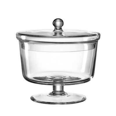 Cuisine - Boîtes, pots et bocaux - Bonbonnière Poesia / Ø 18 x H 18 cm - Verre - Leonardo - Ø 18 cm / Transparent - Verre