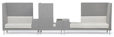 Canapé droit Smallroom / angle droit - L 200 cm - Offecct gris en tissu