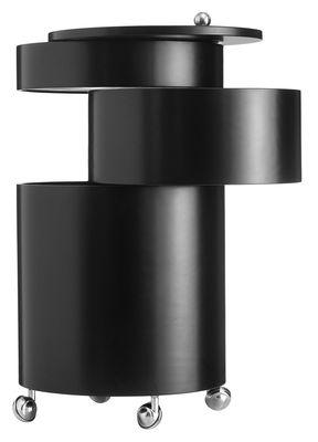 Arredamento - Tavolini  - Carrello/tavolo d'appoggio Barboy - Panton 1965 - In esclusiva web di Verpan - Tre cassetti cilindrici e ripiano superiore - Apertura dei diversi ripiani tramite rotazione attorno all'asse centrale - Riedizione del 1965 - Legno