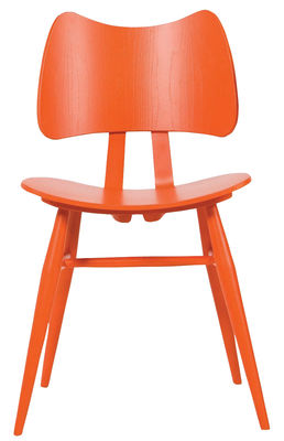 Furniture - Chairs - Butterfly Chair - Wood - Reissue 1958 by Ercol - Mandarin - Elm plywood, Natural beechwood