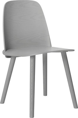 Furniture - Chairs - Nerd Chair - Wood by Muuto - Grey - Ashwood