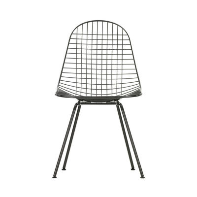 Furniture - Chairs - Wire Chair DKX Chair - / By Charles & Ray Eames, 1951 by Vitra - Black - Epoxy lacquered steel