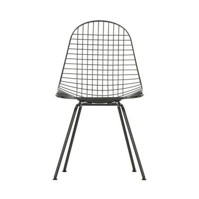 Mobilier - Chaises, fauteuils de salle à manger - Chaise Wire Chair DKX / By Charles & Ray Eames, 1951 - Vitra - Noir - Acier laqué époxy