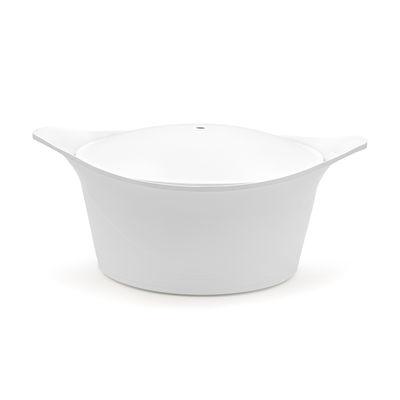 Cuisine - Casseroles, poêles, plats... - Cocotte Ma jolie cocotte / 4,5 L - Tous feux dont induction - Poignée vendue séparément - Cookut - Blanc - Fonte d'aluminium