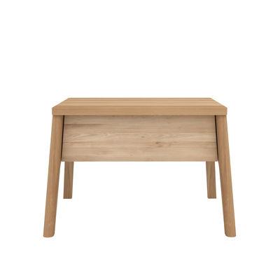 Arredamento - Tavolini  - Comodino Air - / Rovere massello - 1 cassetto di Ethnicraft - Rovere - Rovere massello