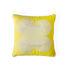 Cuscino Pompidou Quatrefoil - / 40 x 40 cm - Lino & raso ricamato di Jonathan Adler