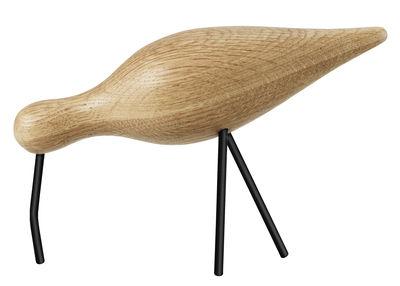 Décoration Oiseau Shorebird L / L 22 x H 14 cm - Normann Copenhagen noir,chêne naturel en bois