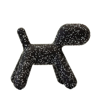 Furniture - Kids Furniture - Puppy Medium Decoration - / L 56 cm - Limited Christmas 2019 edition by Magis Collection Me Too - Black / White markings - roto-moulded polyhene