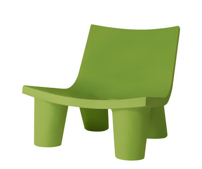 Fauteuil bas Low Lita - Slide vert en matière plastique