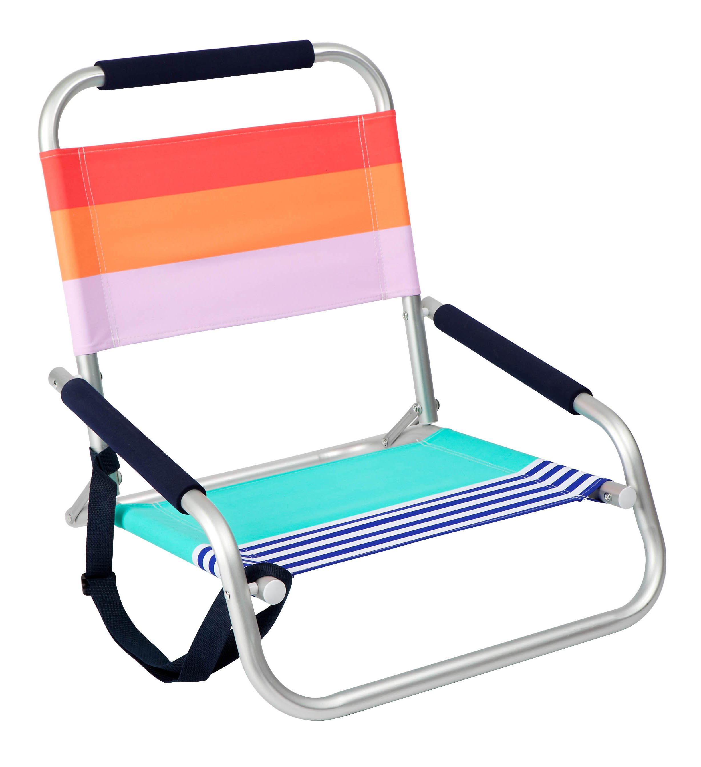 Outdoor - Armchairs & Rocking Chairs - Catalina Foldable beach chair - / Folding by Sunnylife - Catalina / Multicoloured - Aluminium, Polyester