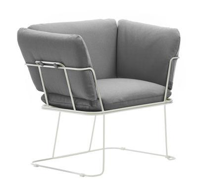 Merano Indoor Gepolsterter Sessel / Stoffbezug - B-LINE - Weiß,Grau