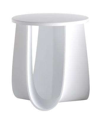 Möbel - Couchtische - Sag Hocker / Tisch H 44 cm - Sitzfläche aus Polyurethan - MDF Italia - Weiß - Polyurhethan