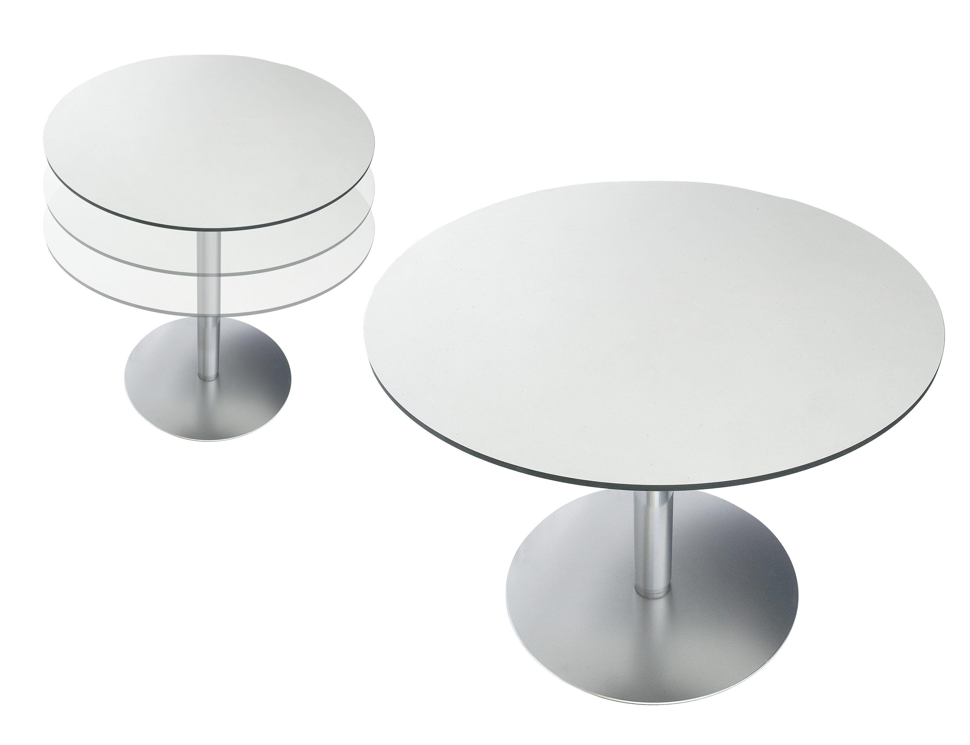 Rondo Höhenverstellbarer Tisch ø 90 Cm Eiche Gebleicht By