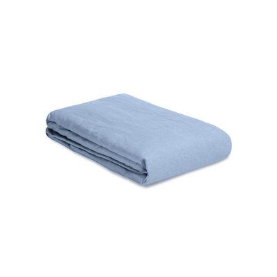 Housse de couette 140 x 200 cm / Lin lavé - Au Printemps Paris bleu en tissu