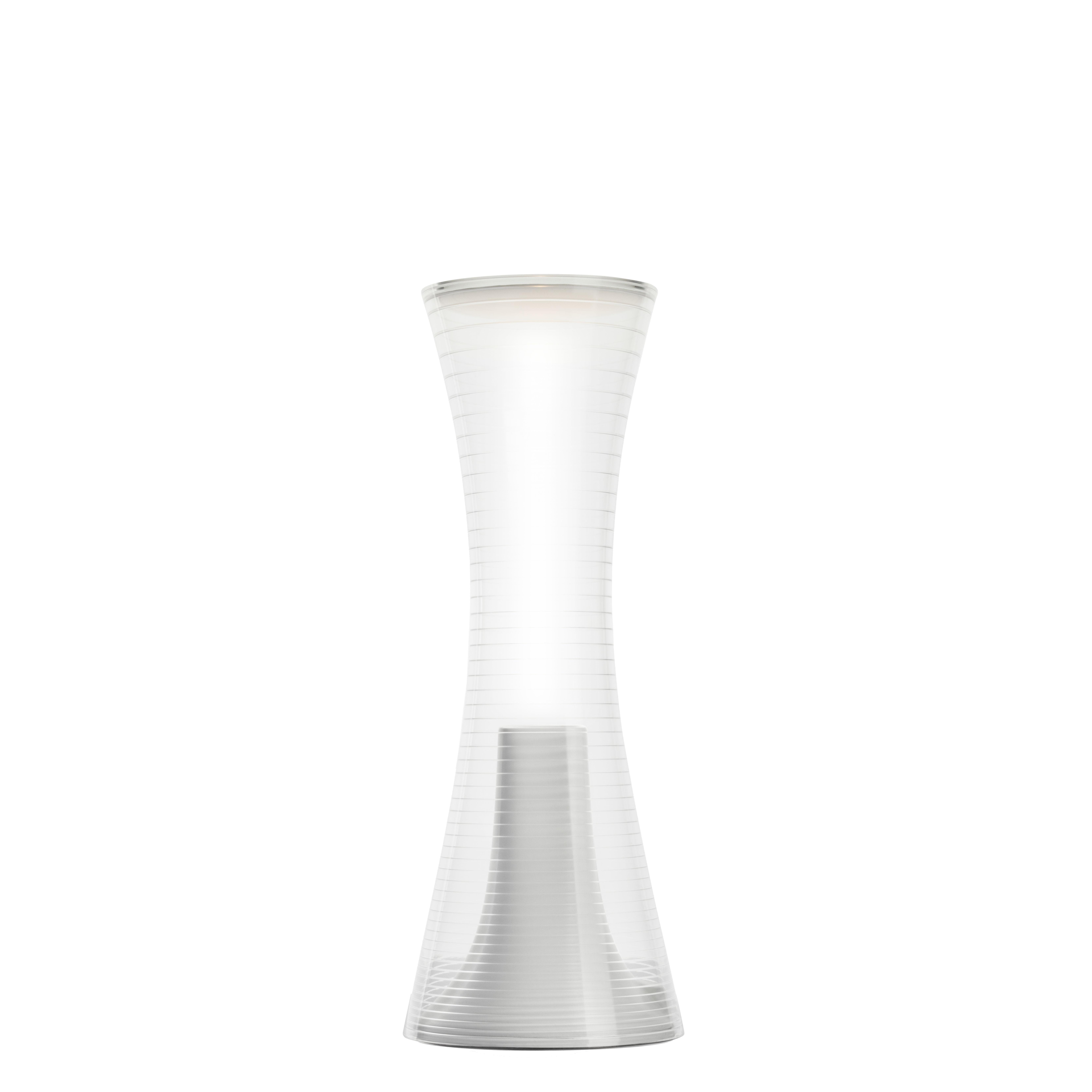 Illuminazione - Lampade da tavolo - Lampada senza fili Come Together - / LED di Artemide - Bianco / Trasparente - PMMA, Tecnopolimero