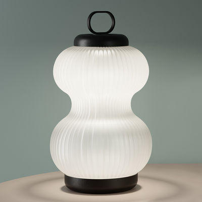 Lampe de table Kanji LED / Verre - H 51 cm - Fontana Arte blanc,noir en verre