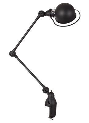 Lampe de table Loft /Base étau - 2 bras articulés - H max 80 cm - Jieldé noir mat en métal