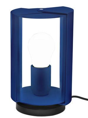 Luminaire - Lampes de table - Lampe de table Pivotante by Charlotte Perriand / Réédition 1962 - Nemo - Bleu - Acier peint, Aluminium peint
