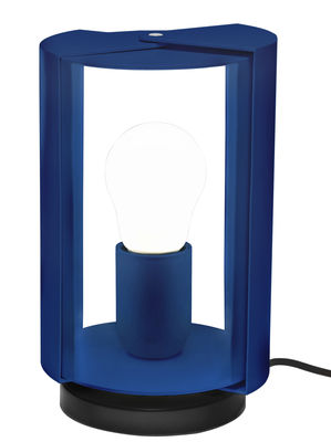 Lampe de table Pivotante by Charlotte Perriand / Réédition 1962 - Nemo bleu en métal