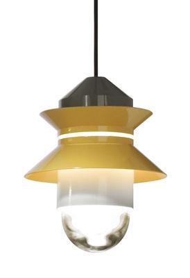Luminaire - Suspensions - Lampe Santorini / Baladeuse à suspendre - Marset - Jaune moutarde / Gris - Polycarbonate, Verre