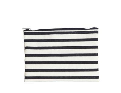 Accessoires - Taschen, Kulturbeutel und Geldbörsen - Stripes Make-up-Tasche / 21 x 15 cm - House Doctor - Streifenmuster - Conton enduit