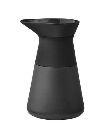 Tischkultur - Tee und Kaffee - Theo Milchtopf / 0,4 l - Steinzeug & Silikon - Stelton - Schwarz - emaillierter Sandstein, Silikon