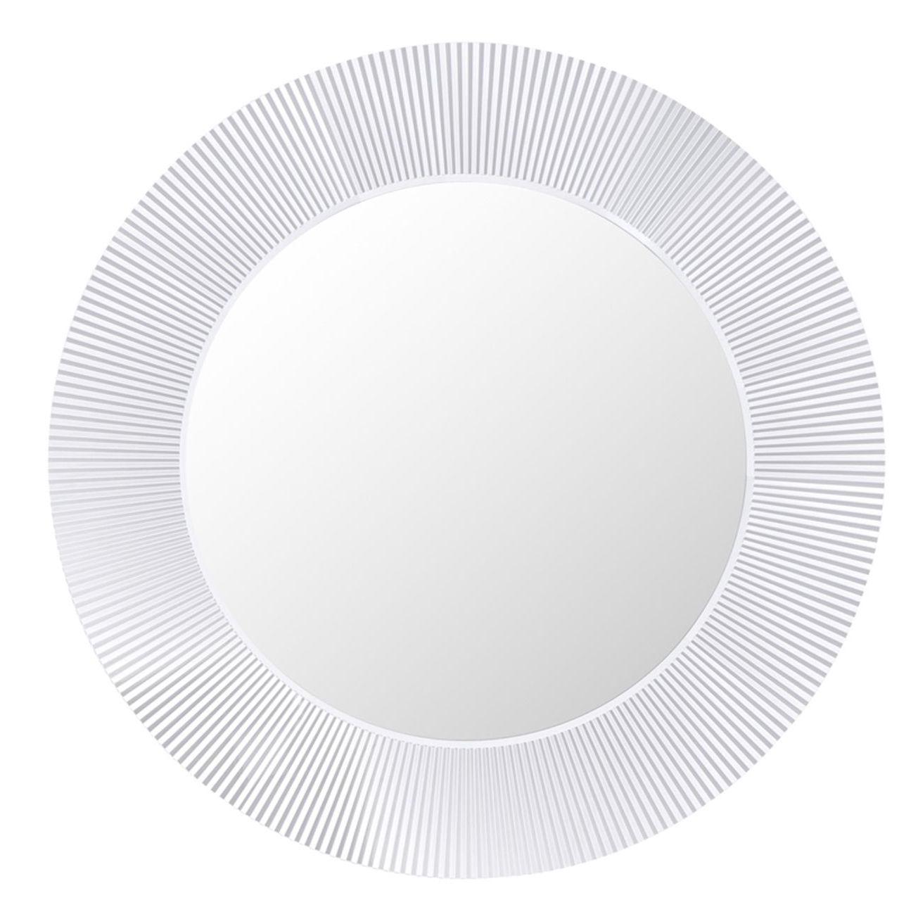 Accessoires - Accessoires salle de bains - Miroir lumineux All Saints LED / Ø 78 cm - Kartell - Cristal - Miroir, PMMA