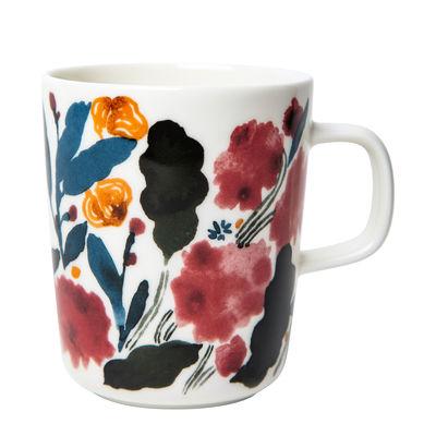 Arts de la table - Tasses et mugs - Mug Hyhmä / 25 cl - Marimekko - Hyhmä / Blanc, Bleu & rouge - Grès