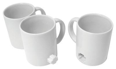 Arts de la table - Tasses et mugs - Mug Link mugs / Set 3 mugs emboîtables - Thelermont Hupton - Blanc - Argile cuite