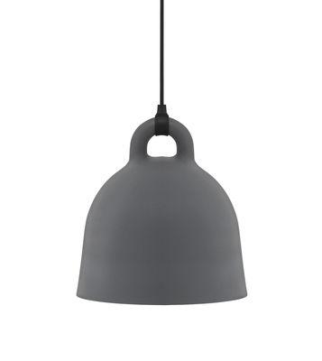Lighting - Pendant Lighting - Bell Pendant - Extra small Ø 22 cm by Normann Copenhagen - Matt Grey & White inside - Aluminium