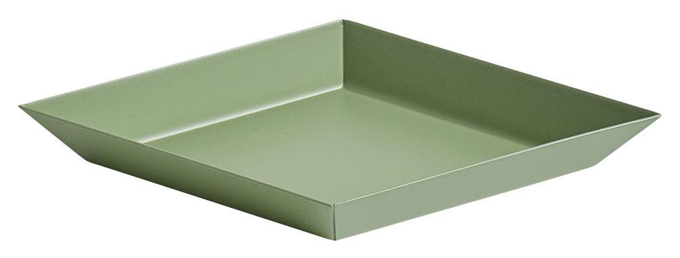 Tavola - Vassoi  - Piano/vassoio Kaleido XS - / 19 x 11 cm di Hay - Verde oliva - Acciaio verniciato