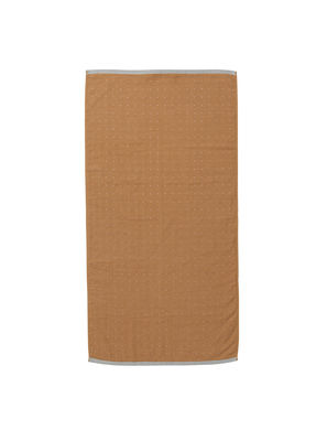 Serviette de toilette Sento / Organic - 100 x 50 cm - Ferm Living gris,moutarde en tissu