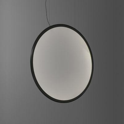 Luminaire - Suspensions - Suspension Discovery Vertical LED / Ø 100 cm - Bluetooth - Artemide - Noir / Transparent - Aluminium, PMMA
