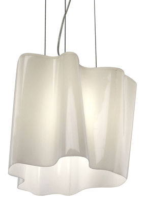 Suspension Logico Mini / Simple - L 24 cm - Artemide blanc en verre
