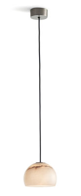 Luminaire - Suspensions - Suspension Neil LED / Ø 15 cm - Albâtre - Carpyen - Nickel / Albâtre blanc - Albâtre