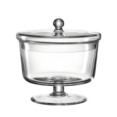 Kitchenware - Kitchen Storage Jars - Poesia Sweet box - / Ø 18 x H 18 cm - Glass by Leonardo - Ø 18 cm / Transparent - Glass