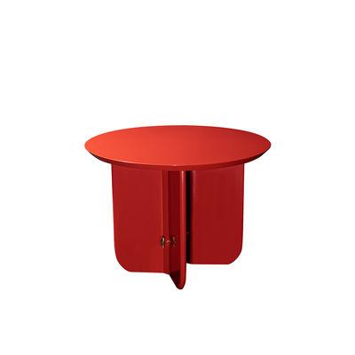Table basse Be Good Small / Ø 55 x H 40 cm - Bois laqué - RED Edition rouge en bois