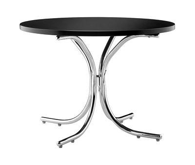 Table basse Modular / MDF - Ø 50 x H 36 cm - Verpan noir,chromé en bois
