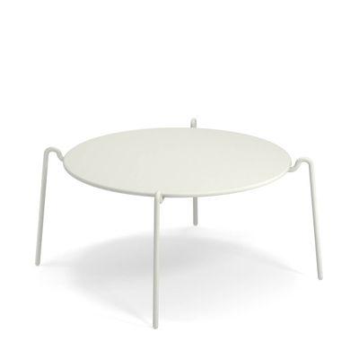 Table basse Rio R50 / Ø 104 cm - Métal - Emu blanc en métal