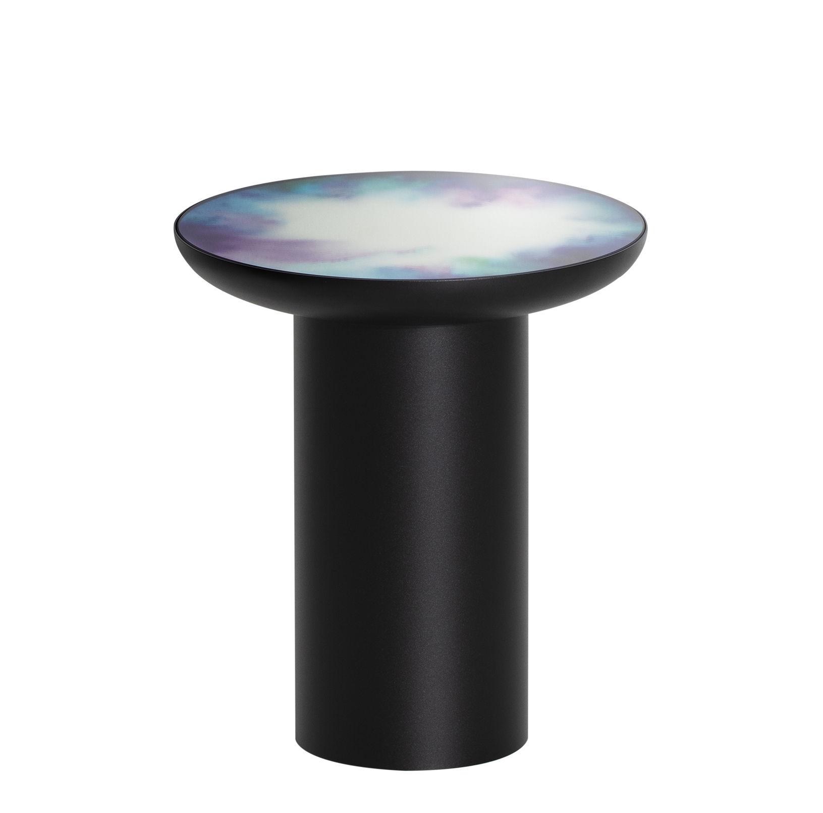 Mobilier - Tables basses - Table d'appoint Francis / Ø 40 x H 45 cm - Miroir - Petite Friture - Noir / Miroir coloré - Acier peint, Verre Sécurit coloré