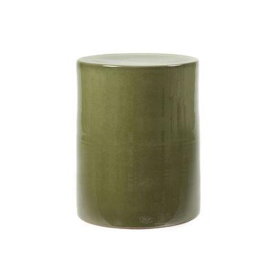 Mobilier - Tables basses - Table d'appoint Pawn / Tabouret - Ø 37 x H 46 cm - Céramique - Serax - Vert - Terre cuite émaillée