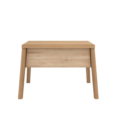 Mobilier - Tables basses - Table de chevet Air / Chêne massif - 1 tiroir - Ethnicraft - Chêne - Chêne massif