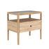 Table de chevet Spindle / Chêne massif & verre - 1 tiroir - Ethnicraft