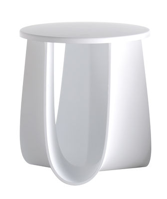 Mobilier - Tables basses - Tabouret Sag / Table H 44 cm - Assise polyuréthane - MDF Italia - Blanc - Polyuréthane